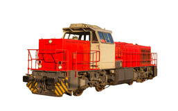 French shunter locomotive isolated on white background Royalty Free Stock Photography