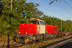 French shunter at Strasbourg-Krimmeri station Stock Images