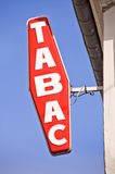 French sign tabac Royalty Free Stock Photography
