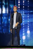 French singer Imany Nadia Mladjao performs on stage Stock Photos