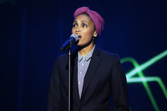 French singer Imany Nadia Mladjao performs on stage Royalty Free Stock Image