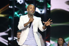 French singer Willy William performs during the 25th Slavyansky Bazar Festival Stock Photo
