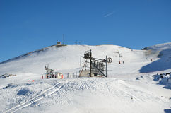 French ski resort Pierre Saint Martin Stock Photo