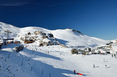 French ski resort Pierre Saint Martin Stock Images