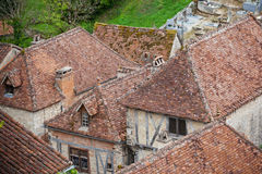 French small town view from above Royalty Free Stock Images