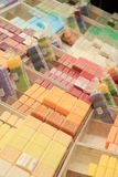 French soap at a market stall Stock Photos