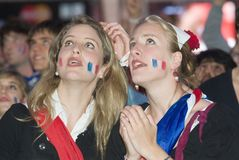 French soccer  fan. European Football Championship 2008 in Vienna Royalty Free Stock Images