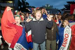 French Soccer Fan Royalty Free Stock Image