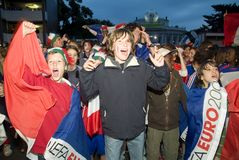French soccer  fan. European Football Championship 2008 in Vienna Stock Photos