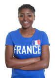French soccer fan with crossed arms Stock Images