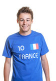 French Soccer Fan Is Ready For The Tournament Stock Photos