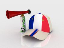 French soccer hat Royalty Free Stock Images
