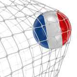 French soccerball in net Stock Image