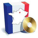 French software box Royalty Free Stock Photo