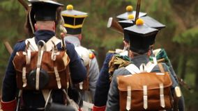 War of 1812, French soldiers are in the woods