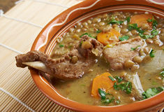 French soup with lentils and Dijon mustard Stock Image