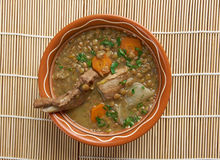 French soup with lentils and Dijon mustard Stock Images
