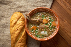 French soup with lentils and Dijon mustard Royalty Free Stock Photo