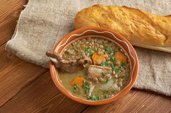 French soup with lentils and Dijon mustard Stock Photography