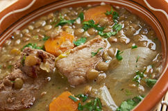 French soup with lentils and Dijon mustard Royalty Free Stock Images