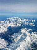 French South Alps. Aerial view of the South Alps in France Stock Photo