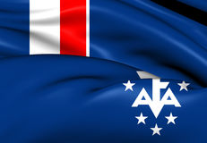 French Southern and Antarctic Lands Flag. Close Up Royalty Free Stock Images