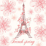 French spring vector background Royalty Free Stock Image
