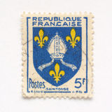 French stamp. From France (in European Union royalty free stock photos