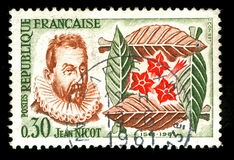 french stamp vintage Στοκ Εικόνες