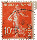 French Stamp Vintage Stock Image