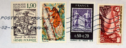 French stamps Stock Photography