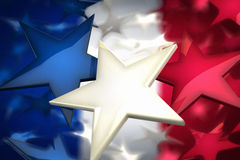 French stars. Rendering of french flag build of stars Stock Photography