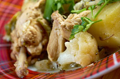French stewed potatoes with chicken Royalty Free Stock Image