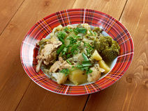 French stewed potatoes with chicken Royalty Free Stock Photography