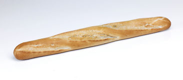 French Stick. A single french stick baton loaf of bread royalty free stock images