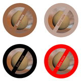 French stickers for nut free products Stock Photography