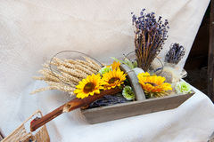French still life with flowers Royalty Free Stock Photo