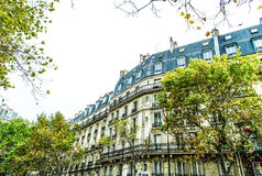 French street in Paris Stock Images