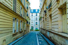 French street in Paris Stock Photography