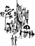 French Street Scene Stock Photo