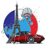 French Style Badge Royalty Free Stock Photo