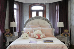 French style of the bedroom Stock Images