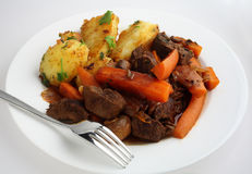 French style beef and carrot stew stock images