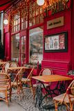 French style cafe royalty free stock image