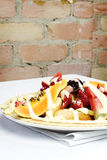 French style crepes with fresh fruits Stock Photography