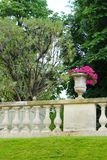 French style garden, Jardin du Luxembourg stock photography