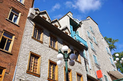 French Style Historic Buildings in Quebec City Stock Photography
