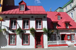 French Style House in Old Quebec City. French Style House Restaurant Aux Anciens Canadians on Rue Saint Louis in Old Quebec City, Quebec, Canada. Historic Stock Photography
