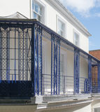 French Style Iron Balcony Railings Royalty Free Stock Photos