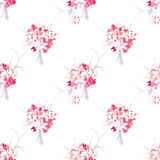 French style pink bouquets seamless vector pattern Royalty Free Stock Photography